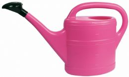5 Litre Sturdy Eco Friendly Pink Plastic Lightweight Watering Can with Rose